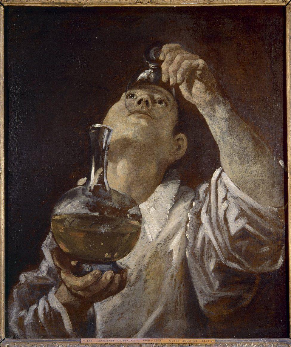 Annibale Carracci, 'A Boy Drinking,' c. 1580.