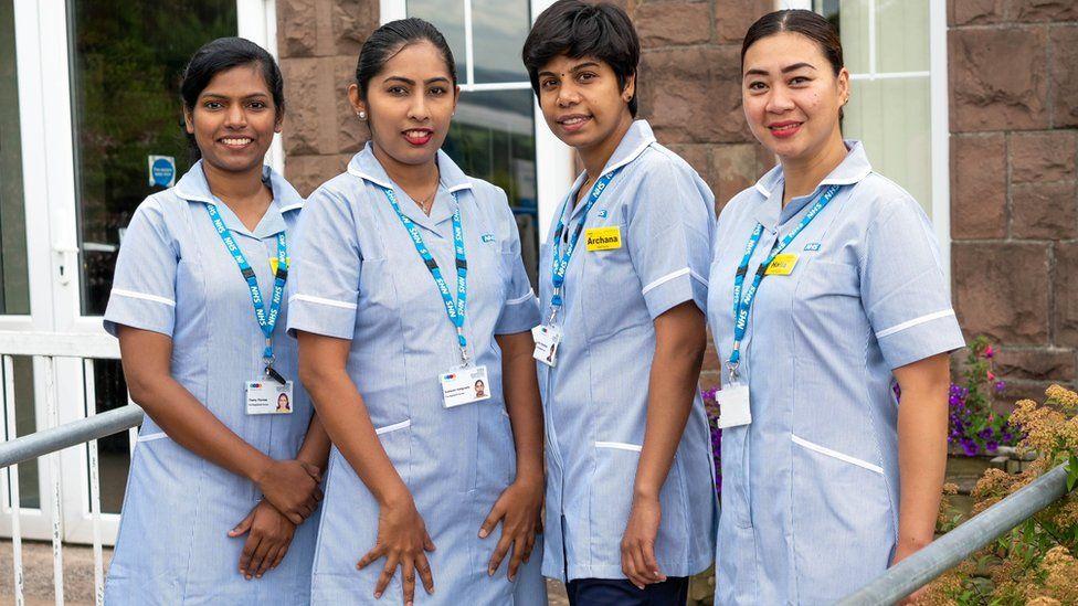 Nurses Haila, Sudharani, Tehmy and Achu
