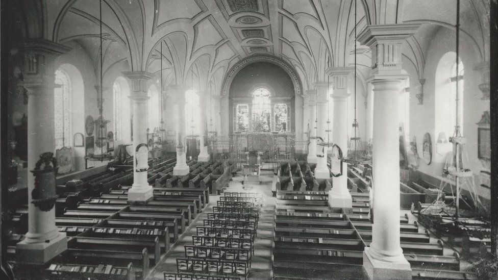 Inside Derby Cathedral