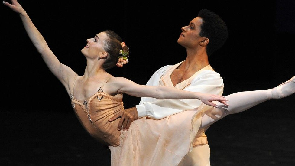 Marcelino Sambe and Anna Rose O' Sullivan in The Royal Ballet's production of Tchaikovsky Pas de Deux at The Royal Opera House last month