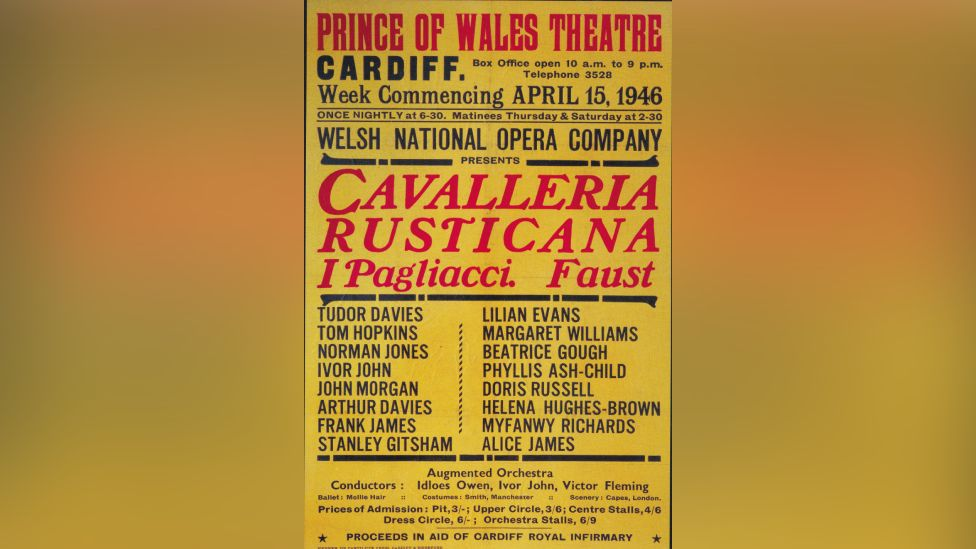 Opera poster from 1946