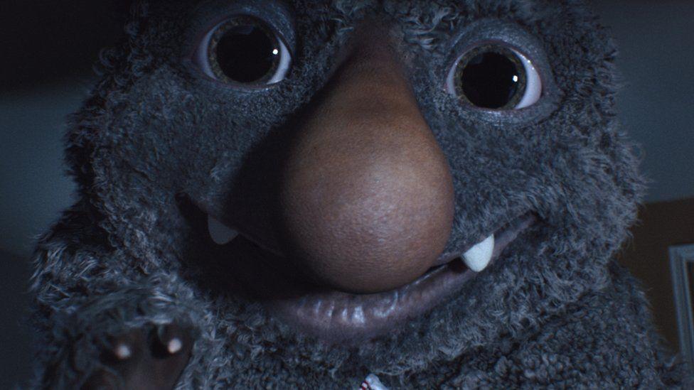 Moz the monster from John Lewis christmas advert