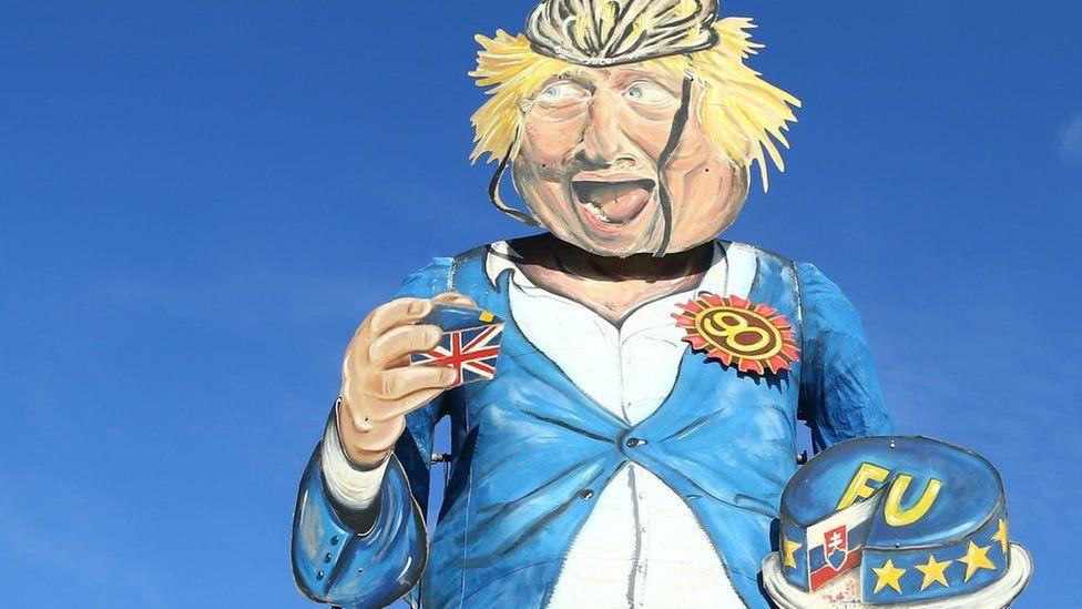Boris Johnson effigy