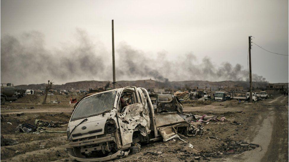 Aftermath of battle against IS in Baghouz, Deir al-Zour (2019)