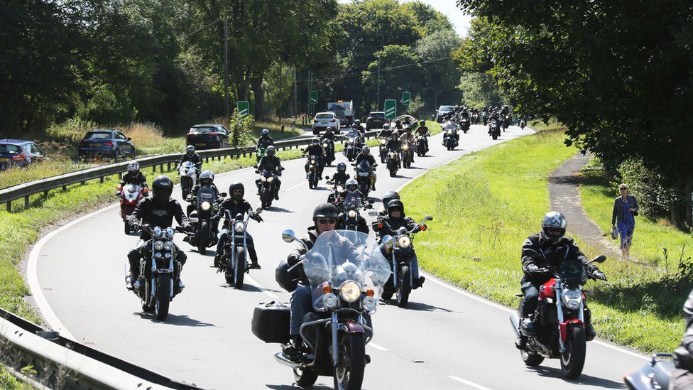 Motorcycle procession