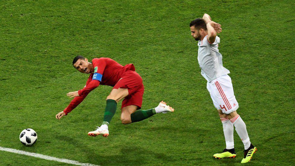 ronaldo fouled for penalty