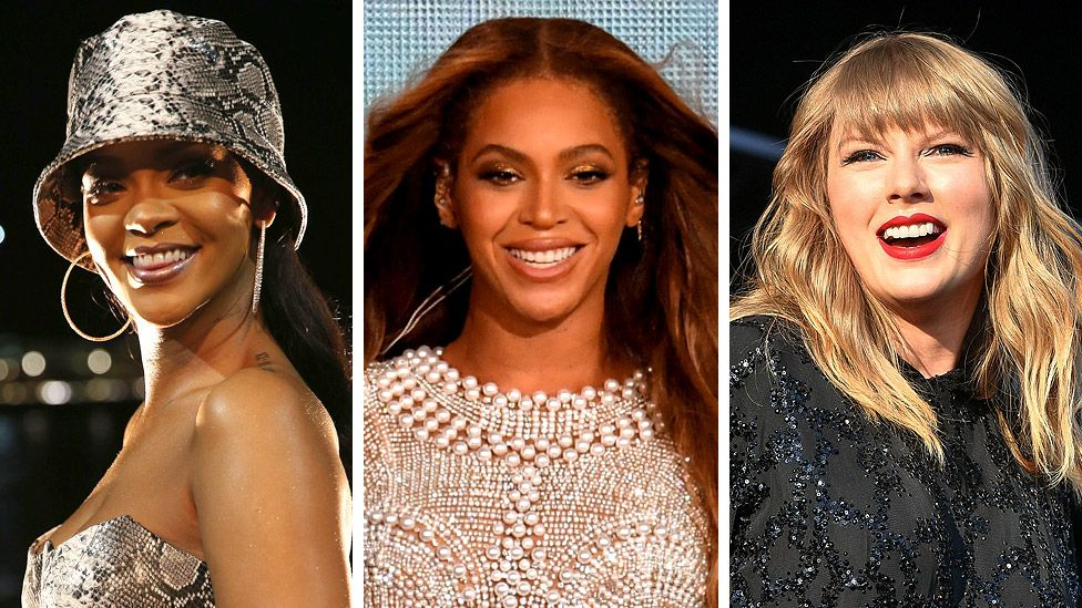 Rihanna, Beyonce and Taylor Swift