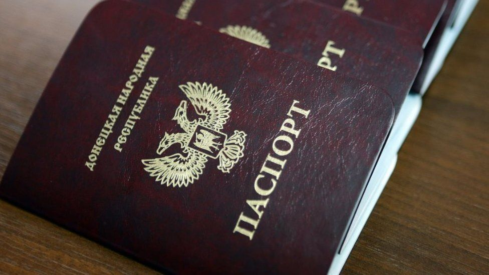 Passports of the self-proclaimed Donetsk People's Republic