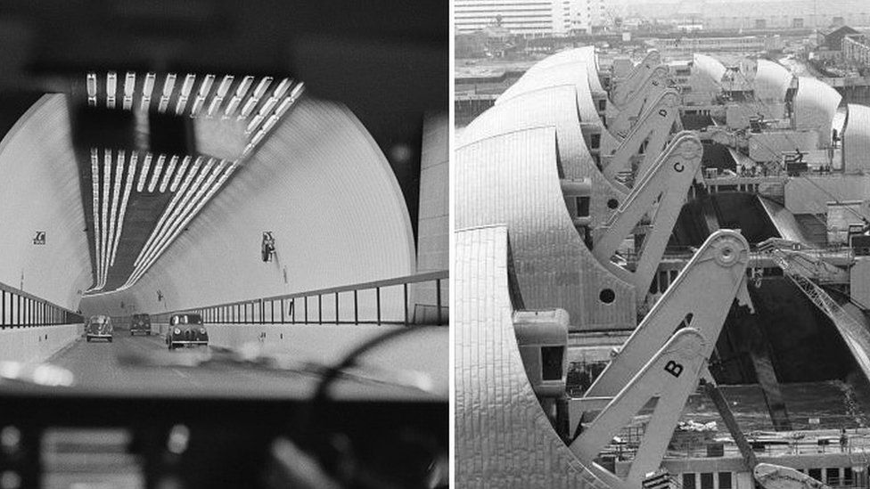 The GLC worked on London landmarks including the Blackwell Tunnel and the Thames Barrier