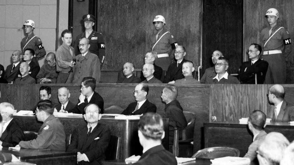 Former Japanese General, Hideki Tojo took the stand during the Tokyo Trials in January 1948