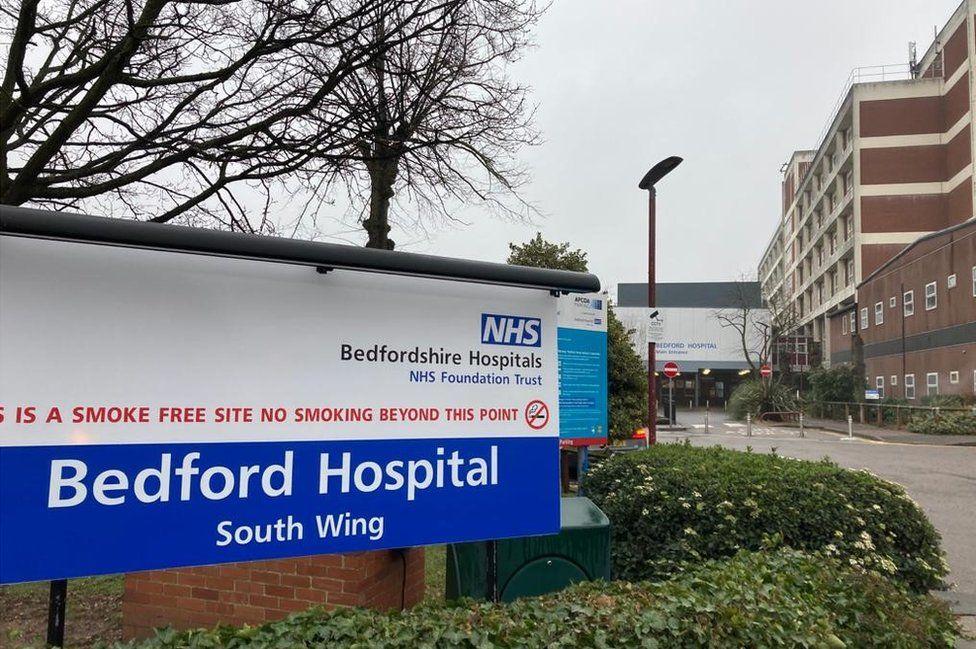 Bedford Hospital on Monday 1/2/21