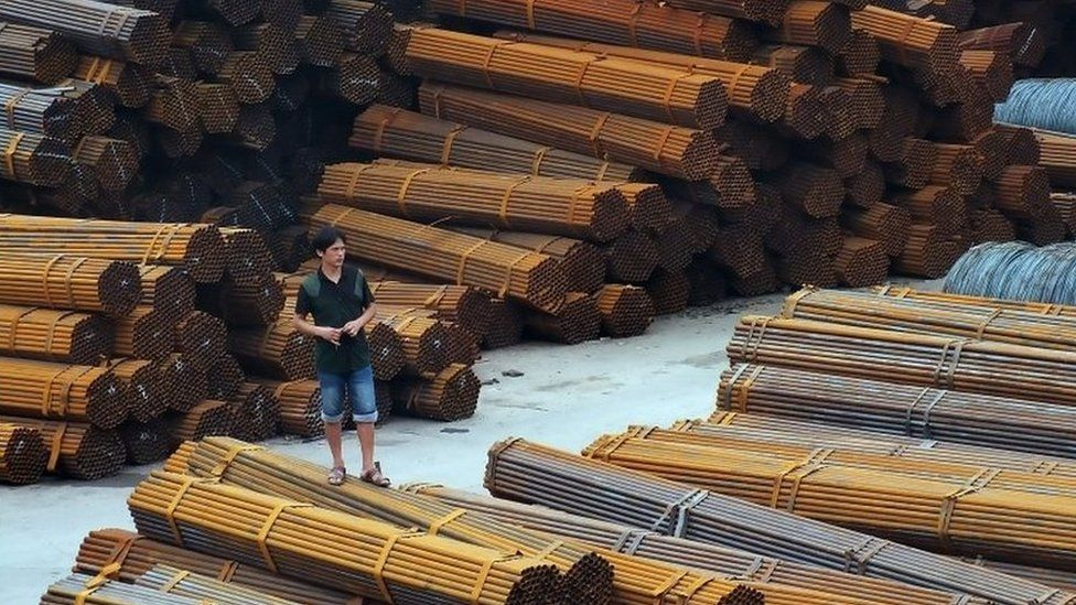 Steel pipes in south western China