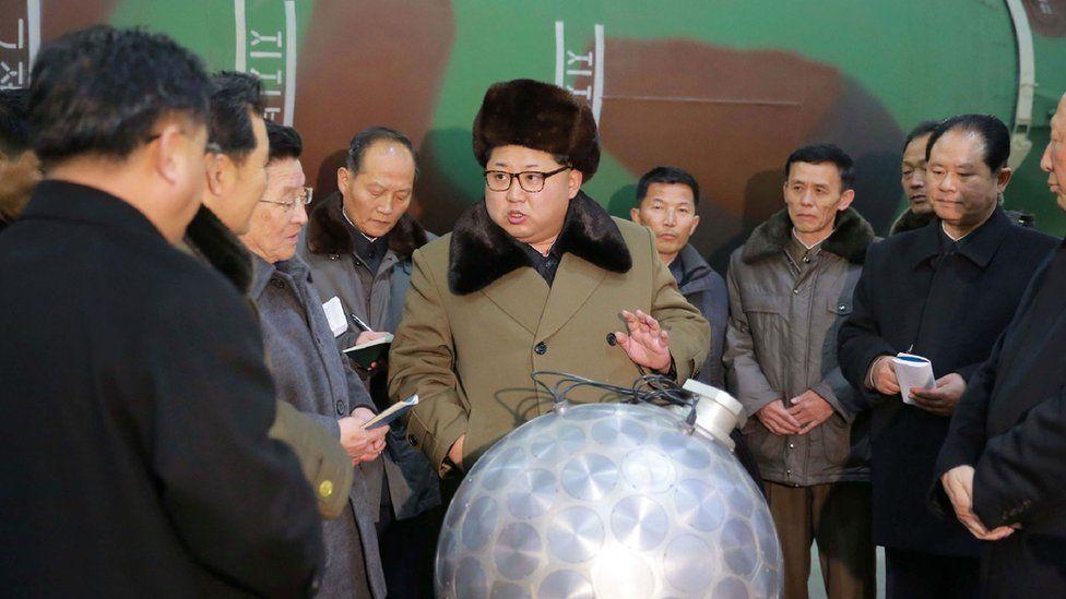 Kim Jong-Un meets with North Korean officials