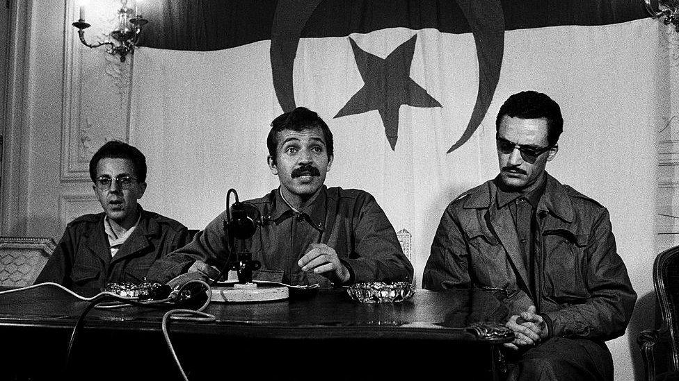 B&W photo of Bouteflika in 1963