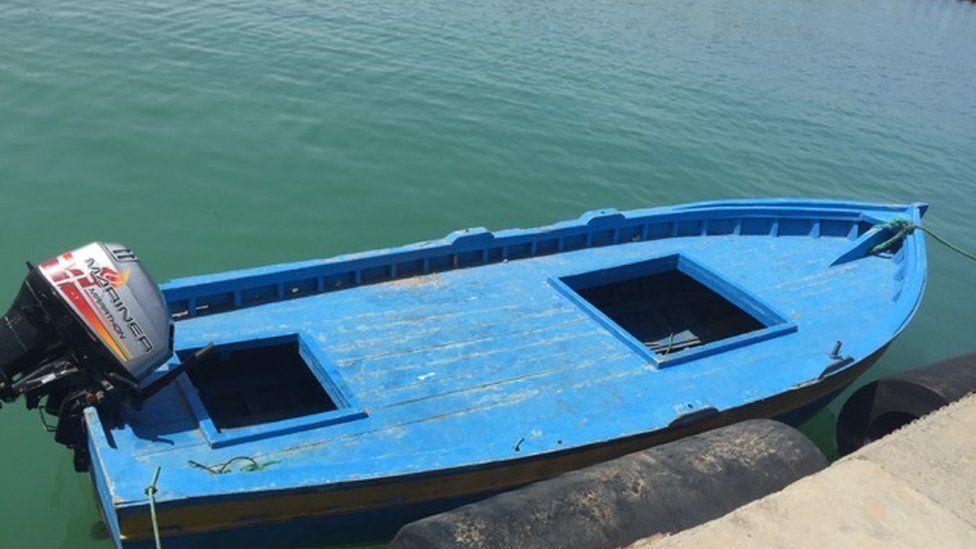 Smugglers' boat in Zuwara
