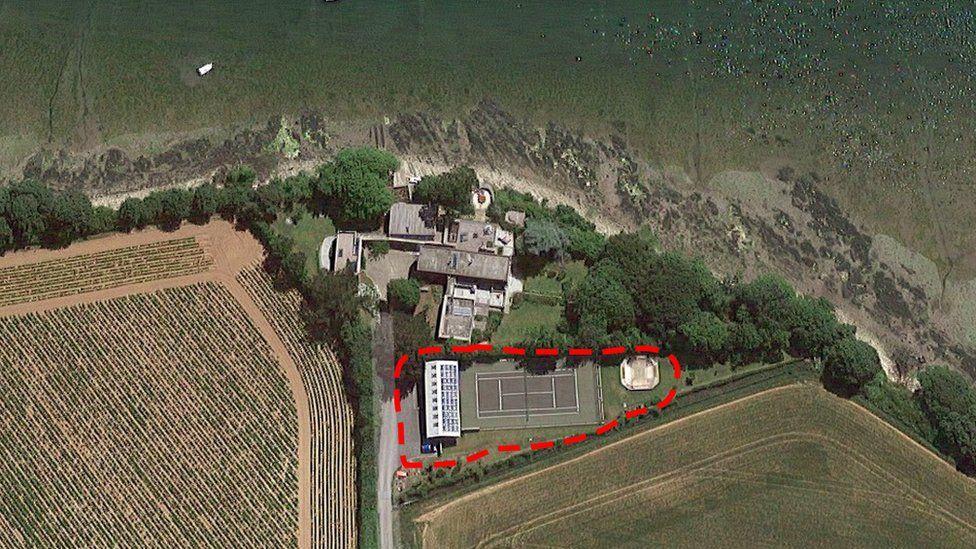 Aerial image of site