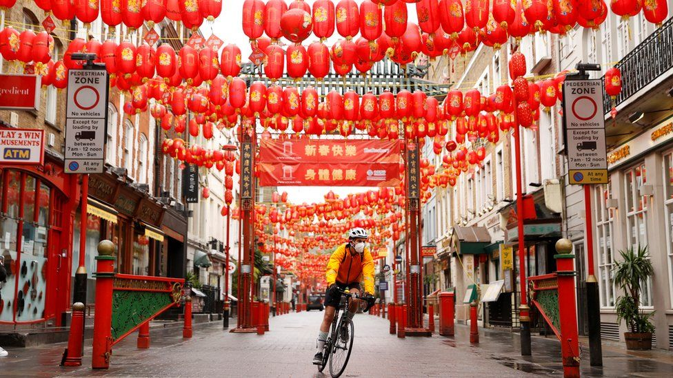 Cyclist in China Town