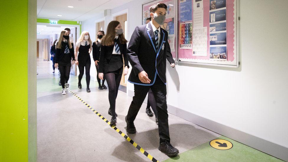 pupils in corridors