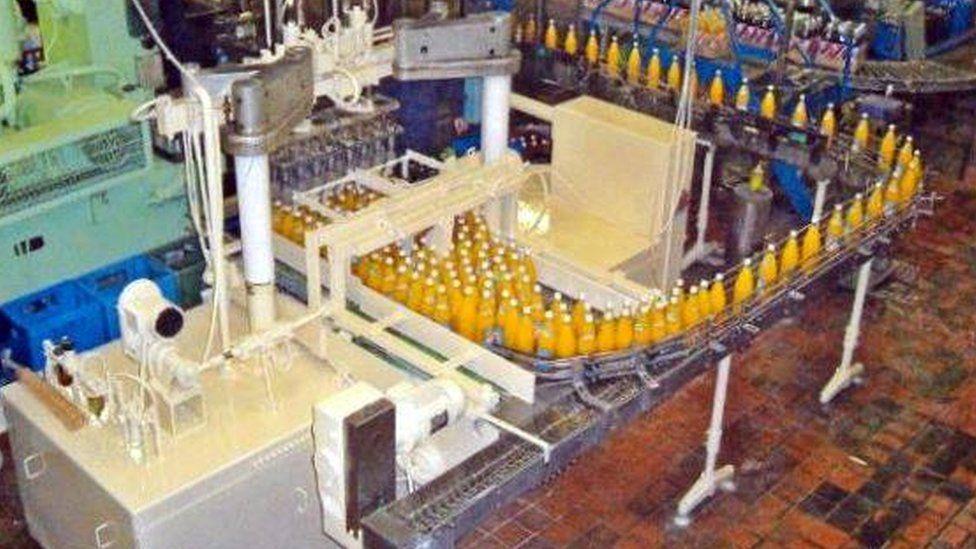 Maine Soft Drinks production line