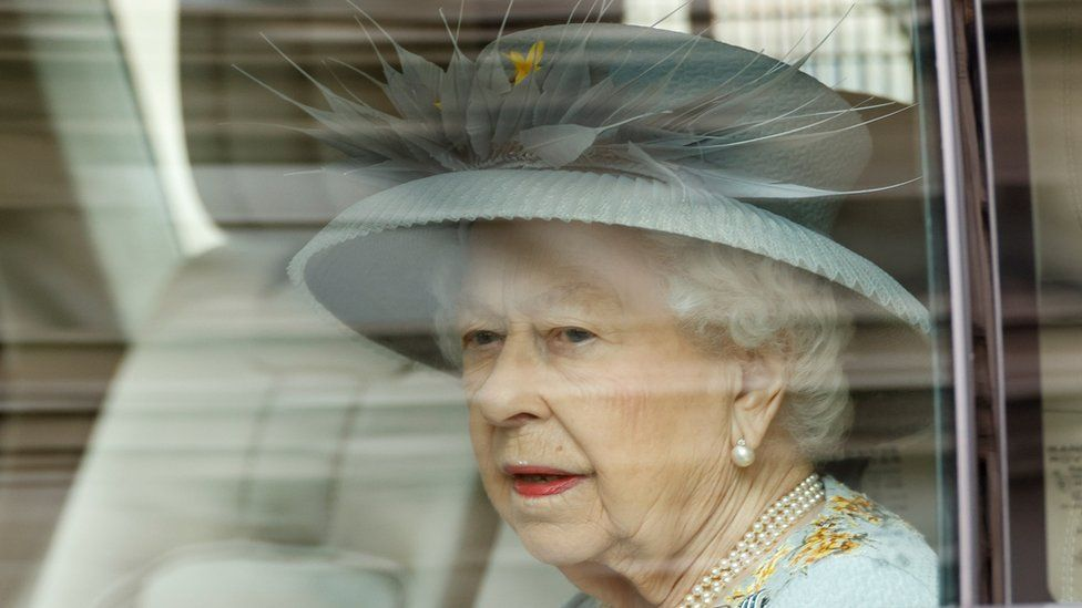 Queen Elizabeth arrives for the State Opening of Parliament at the Palace of Westminster