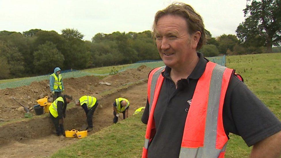 Senior archaeologist Ian Grant