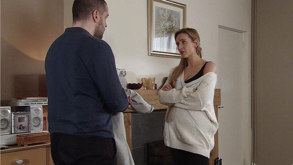 Aidan with his ex-fiance Eva