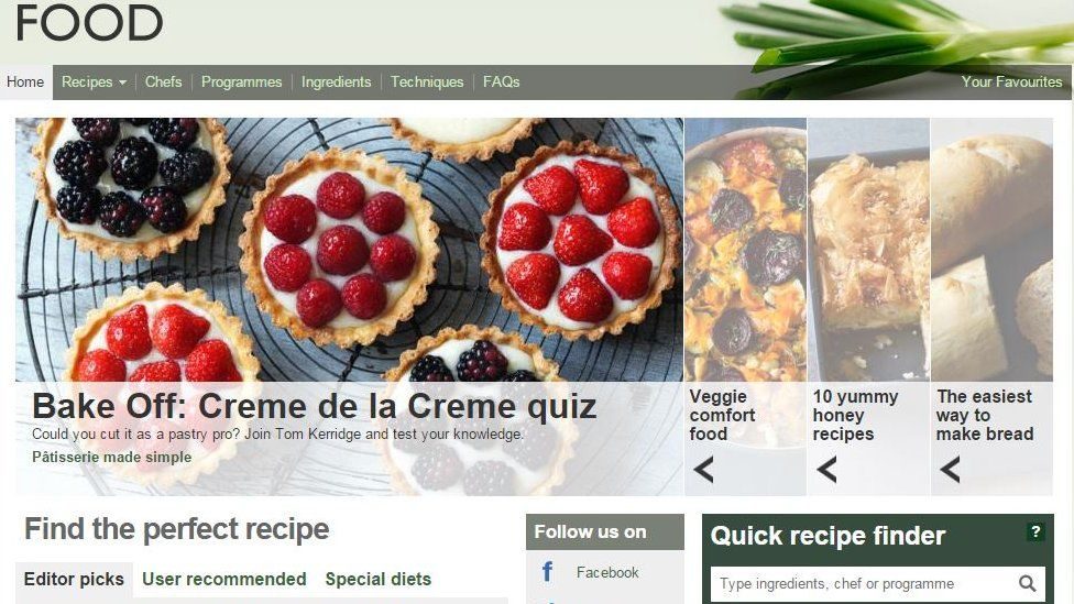 The BBC food website