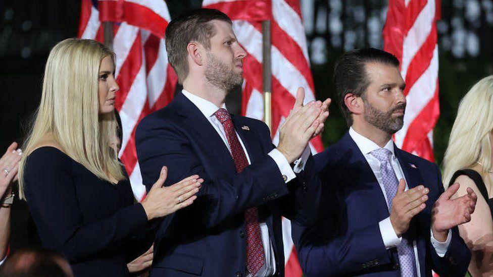Ivanka Trump, Eric Trump, Donald Trump Jr