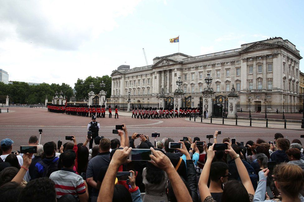 The Changing of the Guard outside Buckingham Palace