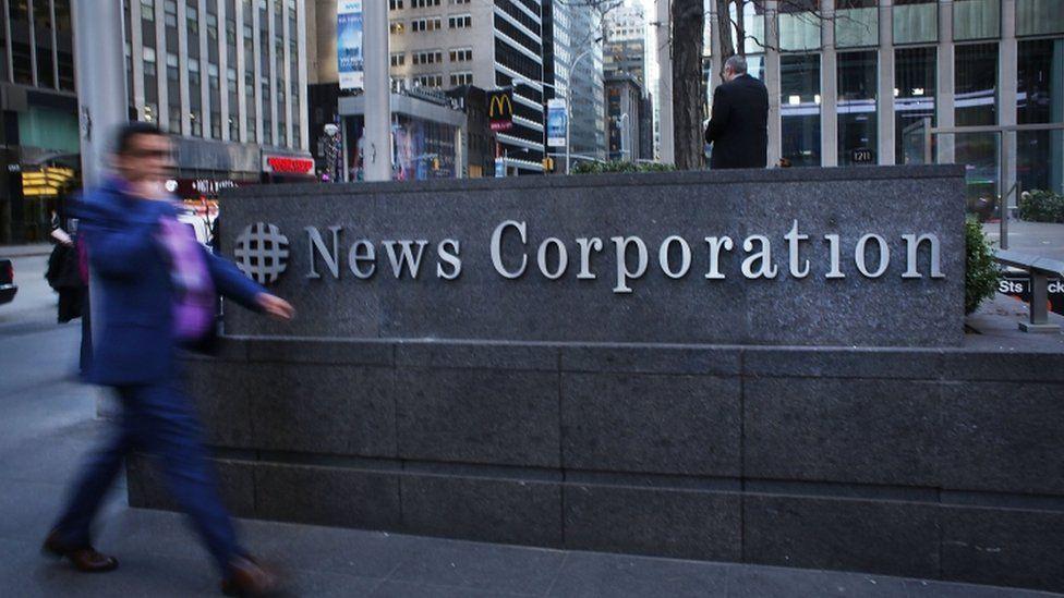 News Corporation sign