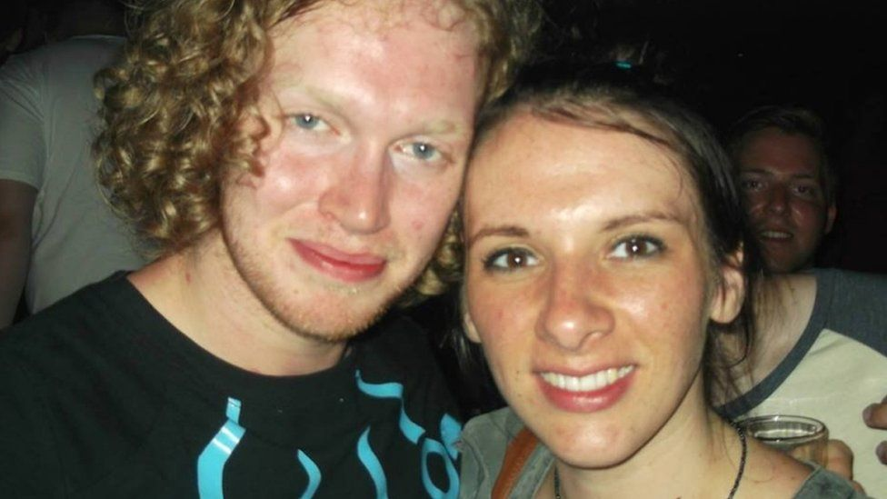 Liam Moore and his fiance Carly Lovett