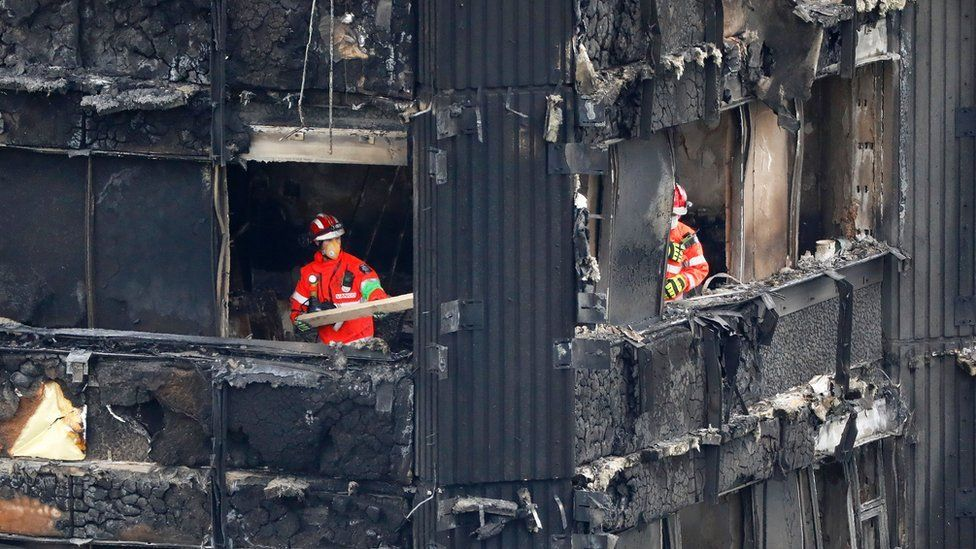 Firefighter at scene of Grenfell