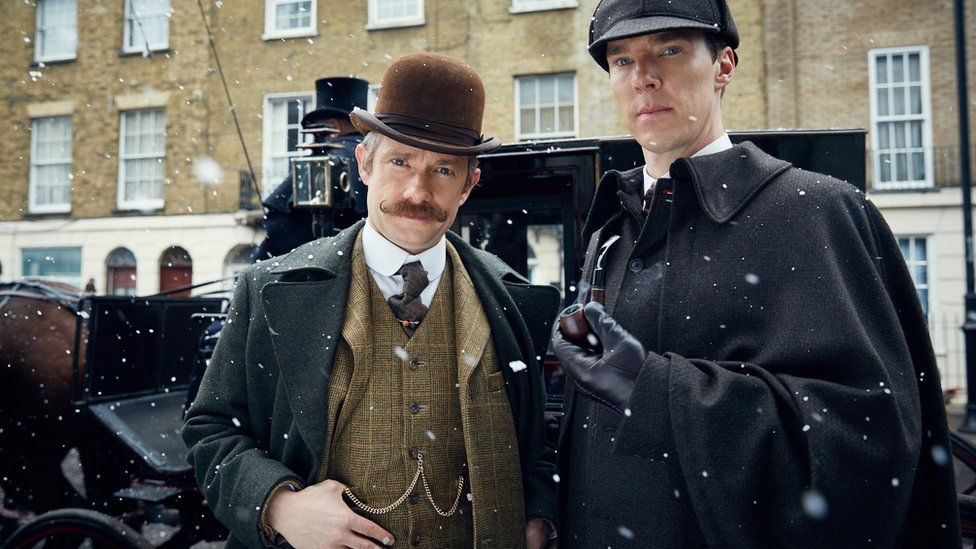 Sherlock stars Martin Freeman and Benedict Cumberbatch