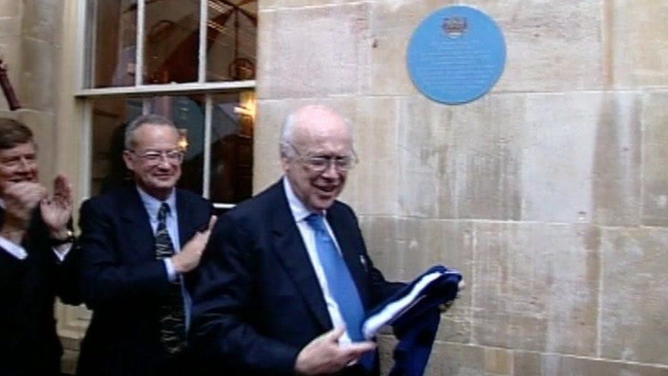 James Watson and blue plaque