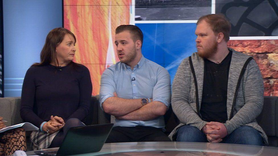 Nicola Urquhart with sons Darroch and Makeyan