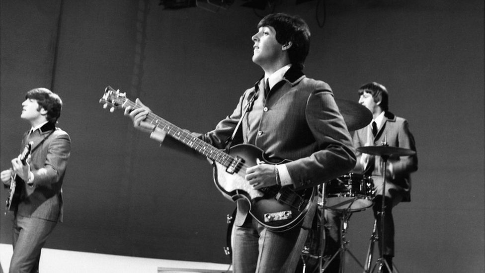 The Beatles on Top of the Pops in 1964