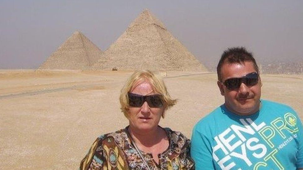 Peter and Michelle Yandell on holiday in Egypt