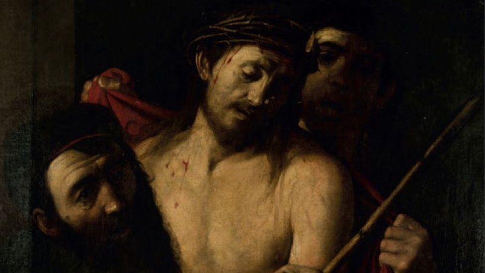 Painting showing Jesus