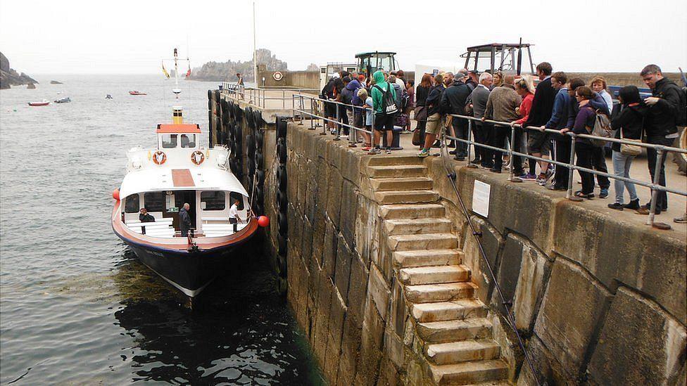 Sark Belle alongside at Sark Harbour