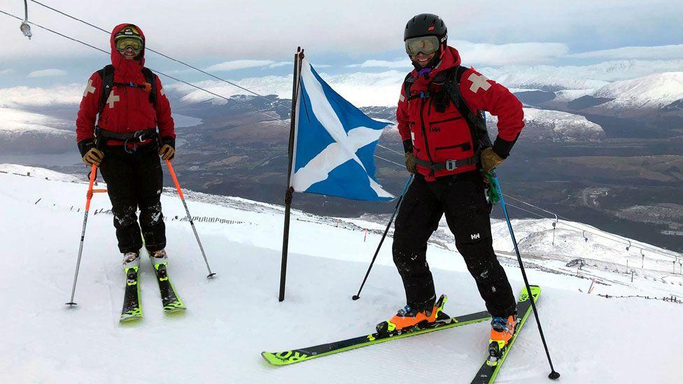Nevis Range ski patrol on Thursday morning