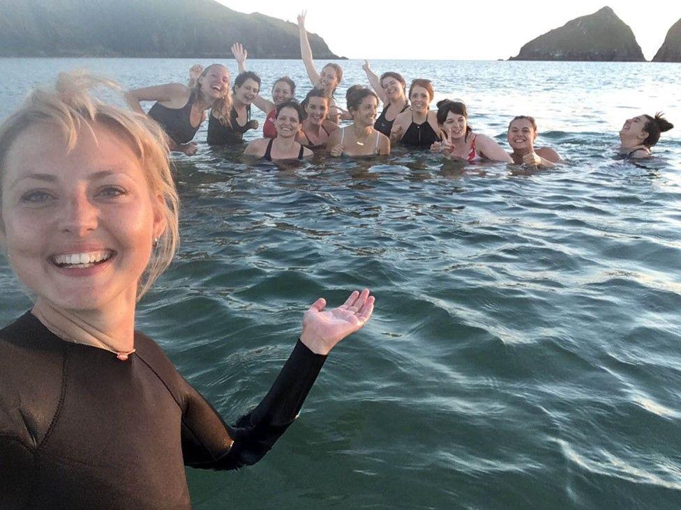 Kris Hallenga and friends
