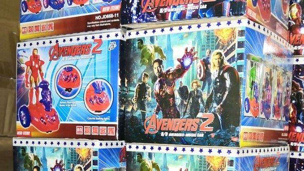 Fake Avengers toys