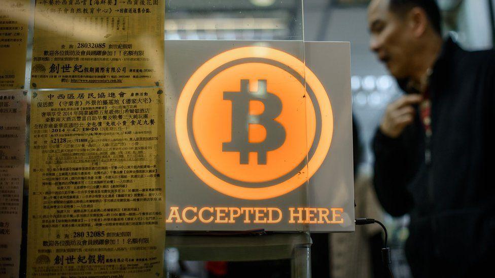 A shop in Hong Kong accepting Bitcoin