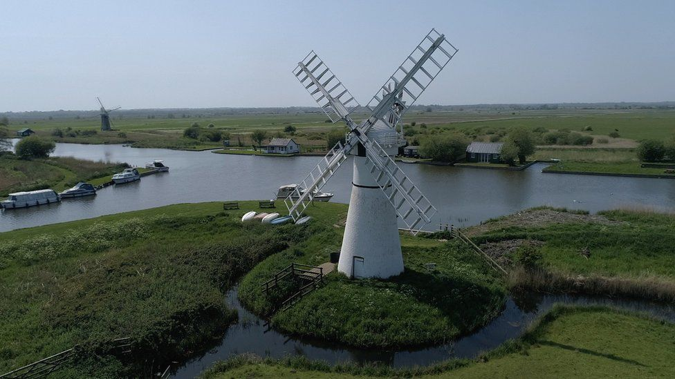 Thurne Windmill from the air