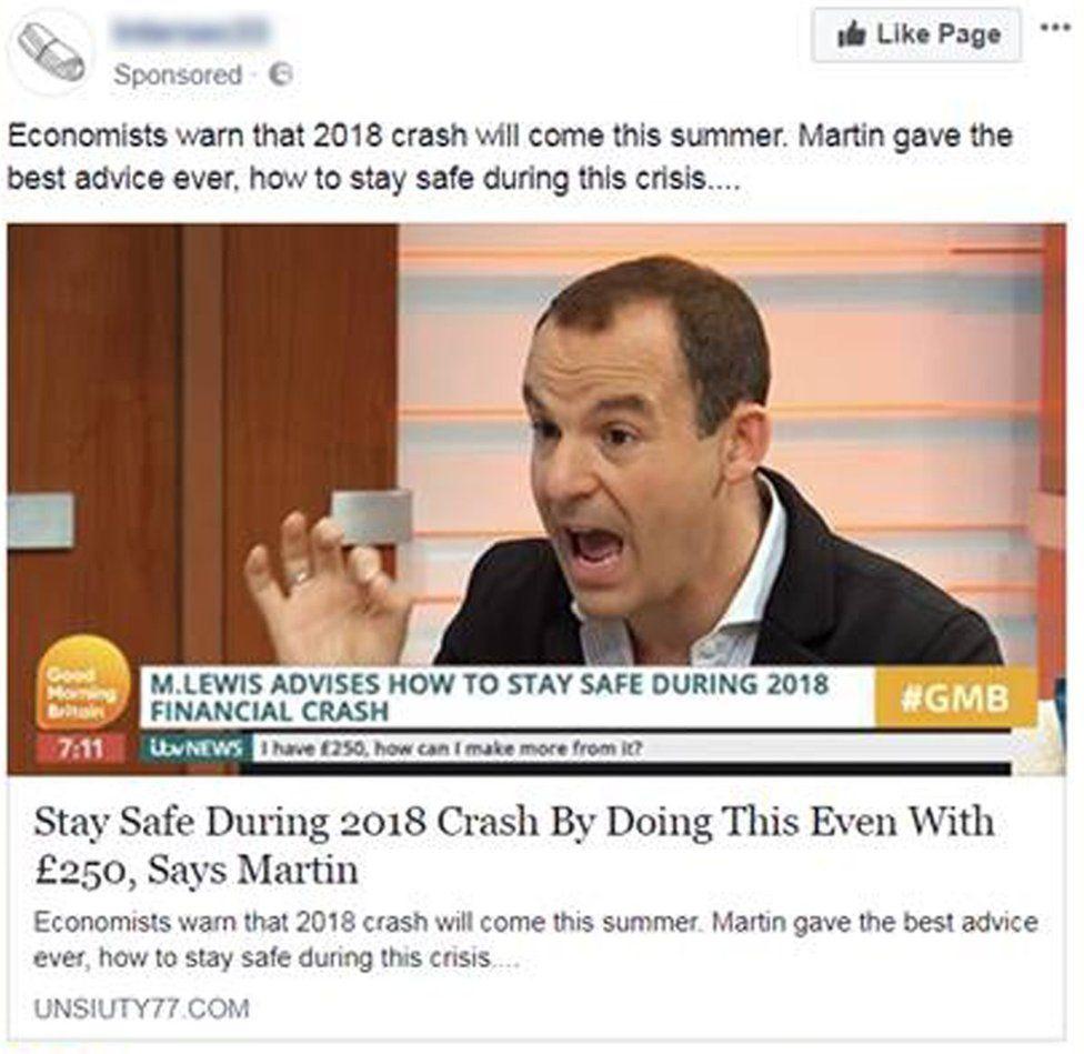 Fake advert