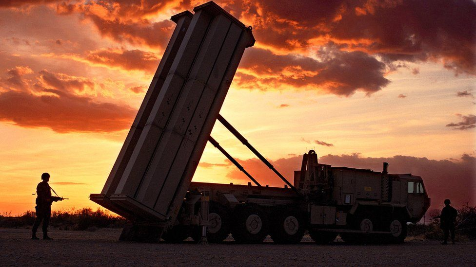 Undated image of THAAD anti-missile defence rocket system