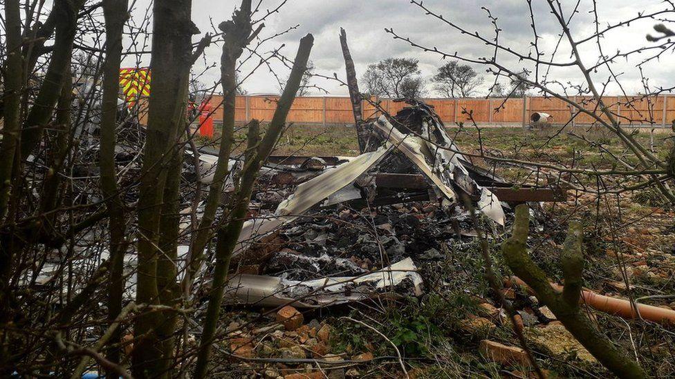 Burnt caravans