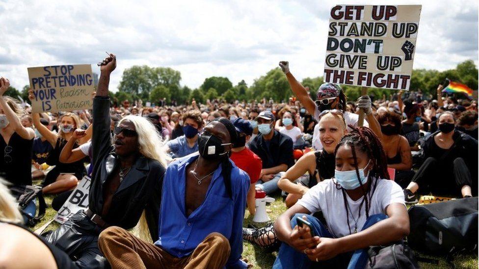 Black Lives Matter protesters in Hyde Park