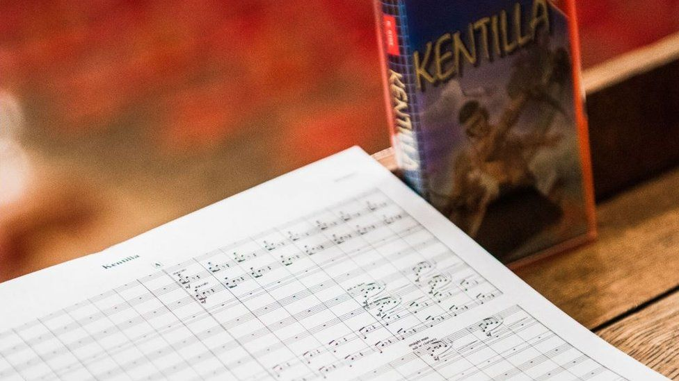 A music score and computer game
