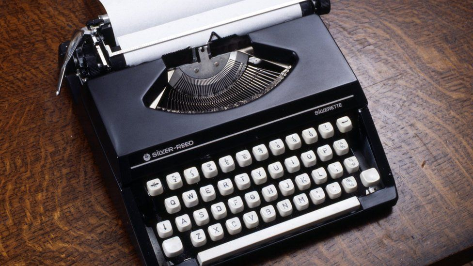 A typewriter